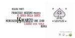 Il gioco della sorte, il primo album di Francesco Anselmo. La presentazione a l'Asino che vola di Roma