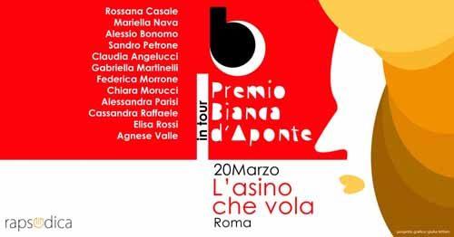 Il Premio Bianca d'Aponte in tour arriva a Roma
