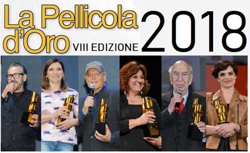 La pellicola d'oro, la cerimonia di premiazione della VIII edizione al Teatro Italia di Roma