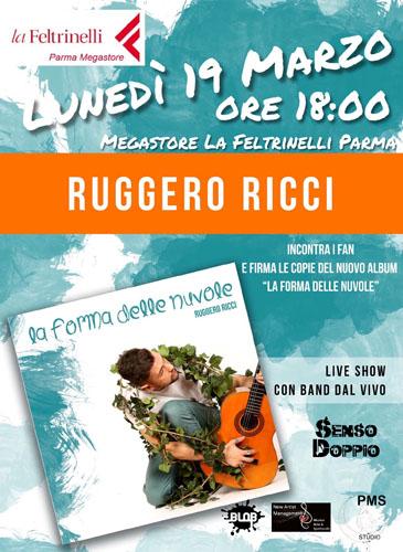 Ruggero Ricci live alla Feltrinelli di Parma il 19 marzo 2018