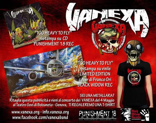 Vanexa, Too Heavy To Fly sarà ristampato in Vinile e CD con la bonus track The Grave!