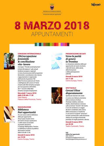 8 marzo 2018, gli appuntamenti dedicati alla Giornata internazionale della donna