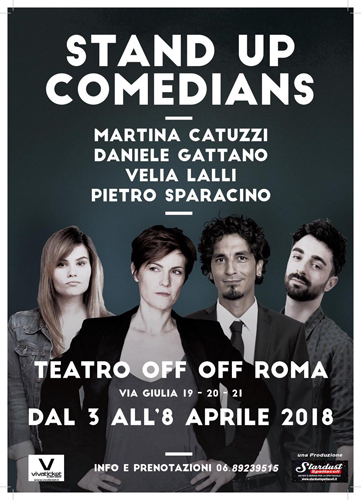 Stand up comedians, lo spettacolo in scena all'OFF OFF THeatre di Roma
