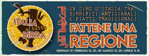 Italia a tutta birra – fattene una regione. Degustazione di birre artigianali italiane al John Barleycorn