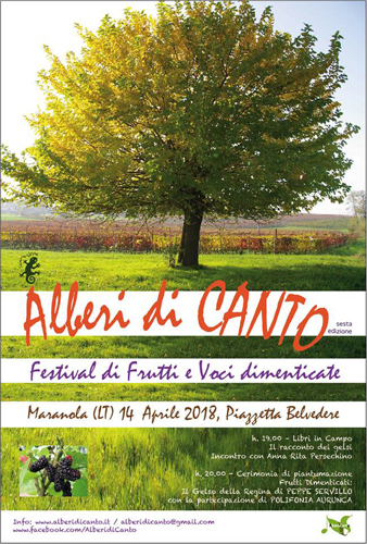 Alberi di canto, al via la VI edizione del Festival a Marantola il 14 aprile 2018