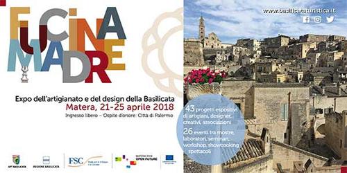 Al via Fucina Madre a Matera, expo dell'artigianato e del design della Basilicata