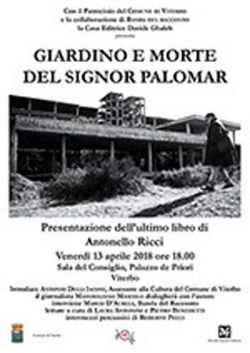 Giardino e morte del signor Palomar e altre storie, il libro di Antonello Ricci