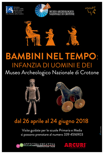 Bambini nel tempo. Infanzia di uomini e dei, la mostra in corso al Museo Archeologico Nazionale di Crotone