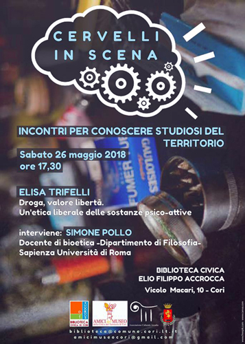 Elisa Trifelli apre a Cori la nuova edizione di Cervelli in Scena