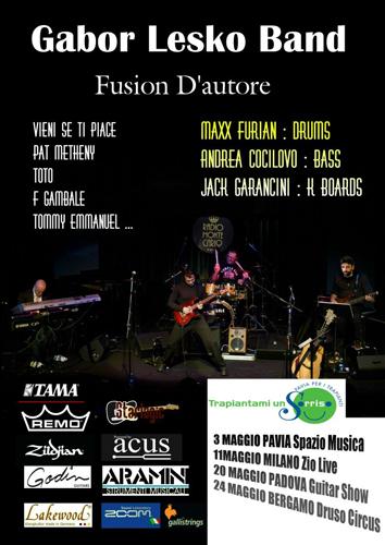 Gabor Lesko Band al Druso Circus di Bergamo, in attesa del nuovo album fingerfusion project