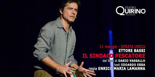 Il sindaco pescatore, lo spettacolo con Ettore Bassi al Teatro Quirino