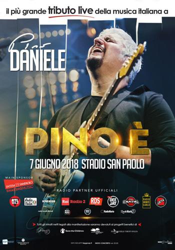 Pino è, il più grande tributo live della musica italiana a Pino Daniele allo Stadio San Paolo di Napoli