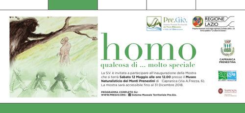 Homo – Qualcosa di molto speciale – Mostra sull'evoluzione umana al Capranica Prenestina di Roma