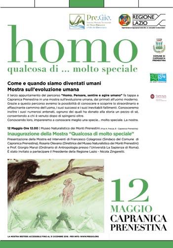 Homo – Qualcosa di… molto speciale Come e quando siamo diventati umani. La mostra sull'evoluzione umana