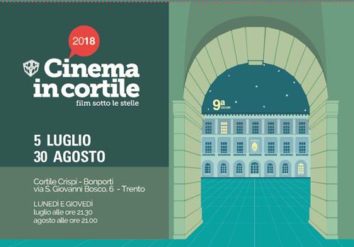 Cinema in cortile: 12 i film in programma, primo appuntamento il 5 luglio