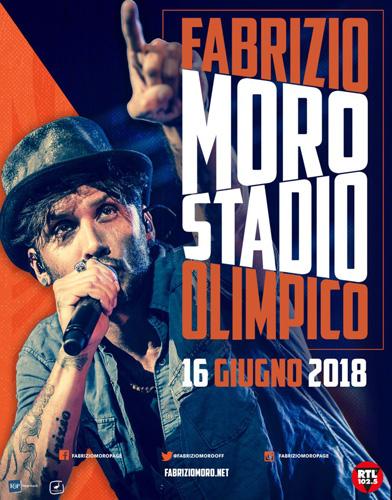 Fabrizio Moro, mancano tre giorni alla festa della musica che si terrà allo Stadio Olimpico di Roma