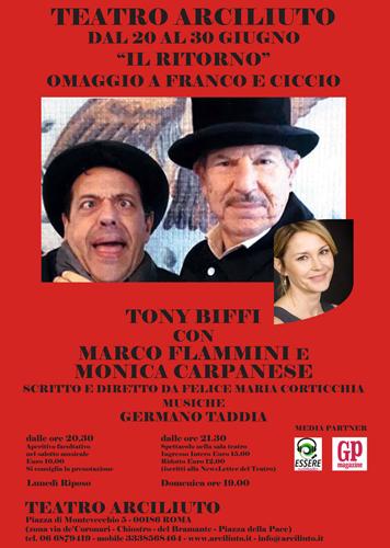Omaggio a Franco e Ciccio, debutta al Teatro Arciliuto lo spettacolo Il Ritorno