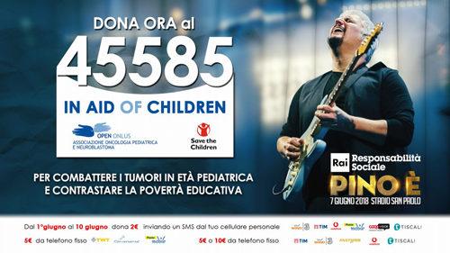 In Aid of Children, è attivo il numero solidale 45585 per sostenere Open Onlus e Save the Children!