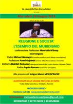 Religione e società. l'esempio del muridismo il 20 giugno all'Auditorium della Grande Moschea di Roma