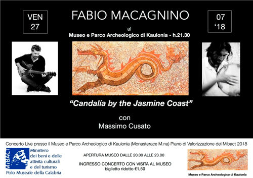 Candalìa by the Jasmine Coast, il concerto di Fabio Macagnino al Museo Archeologico dell'antica Kaulon