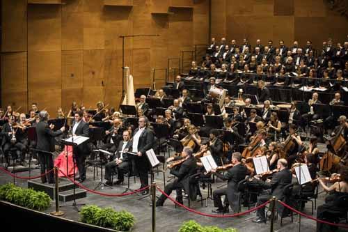 Opera di Firenze. Prima di Macbeth diretta da Riccardo Muti.