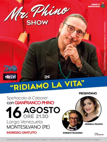 Montesilvano: One Man Show di Gianfranco Phino il 16 agosto
