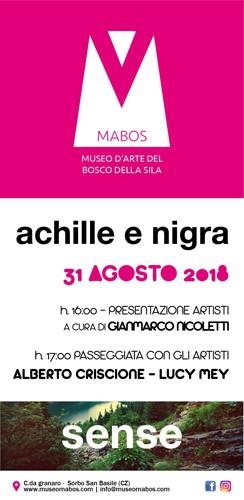 Achille e Nigra. Residenze Artistiche Sense del Museo MABOS. Sorbo San Basile