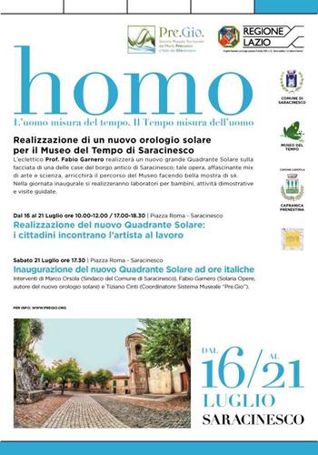 Homo – Il tempo dell'uomo e la misura del tempo secondo Natura