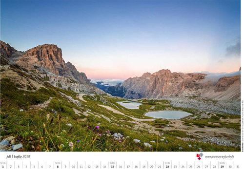 Calendario 2019, Euregio alla ricerca di foto di primavera ed estate