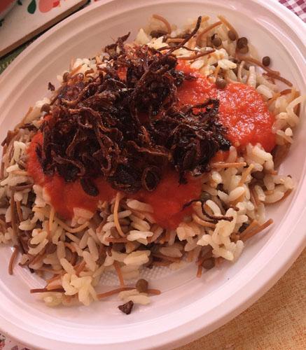 Il Koshari, un delizioso piatto vegetariano arabo