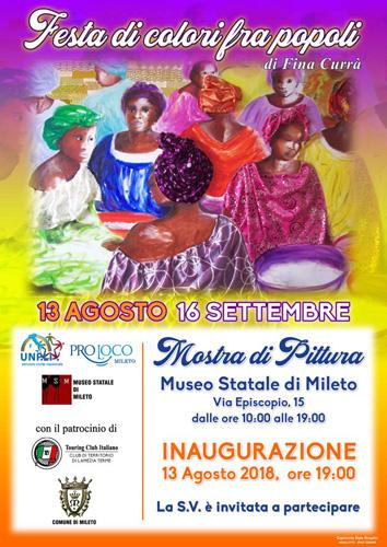 Festa di colori fra popoli, la mostra di Fina Currà al Museo Statale di Mileto
