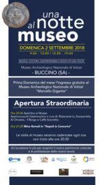 Notte al Museo di Buccino con archeologia, musica, gastronomia e giochi