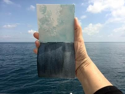Taccuini nel vento – disegni e acquarelli di bordo di Simo Capecchi a cura di Moleskine in mostra al Festival della Mente