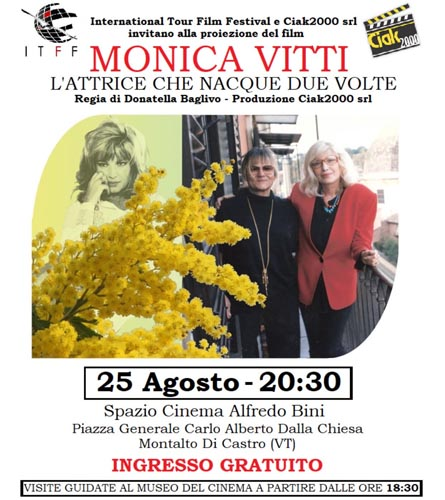 II^ tappa International Tour Film Festival dedicata a Monica Vitti