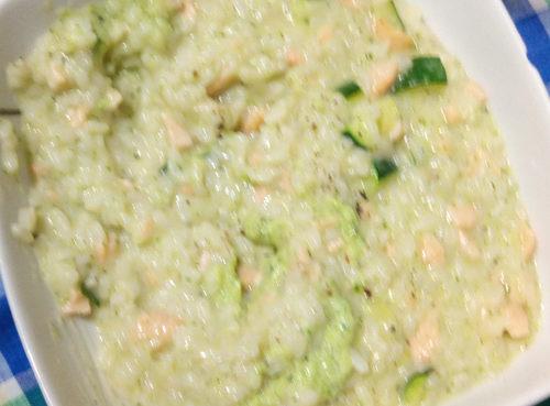 Risotto salmone e broccoli