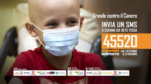 """SOLETERRE, la campagna SMS """"Grande Contro il Cancro"""""""