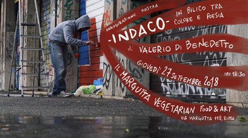 """Indaco """"In bilico tra colore e poesia"""", la mostra di Valerio Di Benedetto a Il Margutta Vegetarian Food & Art di Roma"""