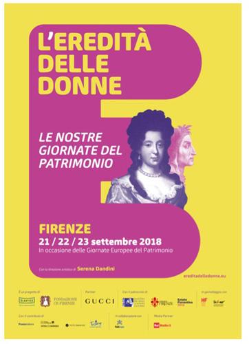 """Il festival """"L'Eredità delle Donne"""" ai nastri di partenza. Appuntamento dal 21 al 23 settembre a Firenze"""