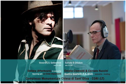 Dellera ed Emidio Clementi & Corrado Nuccini a Cori per la manifestazione InKIOSTRO
