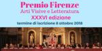 Premio Firenze Iscrizioni aperte fino all'8 ottobre 2018