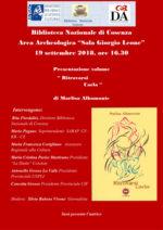 Ritrovarsi Carla, il volume di Marlisa Albamonte. La presentazione alla Biblioteca Nazionale di Cosenza