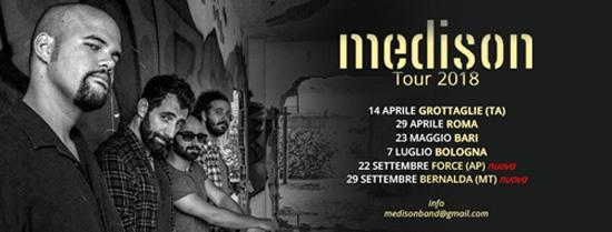 Due appuntamenti live per la band pugliese dei MEDISON nelle Marche e in Basilicata