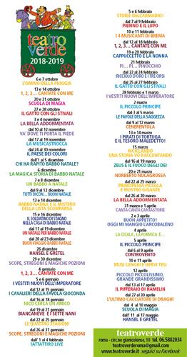 Bambini & Teatro. Il 6 ottobre si apre la 33ma Stagione del Teatro Verde di Roma