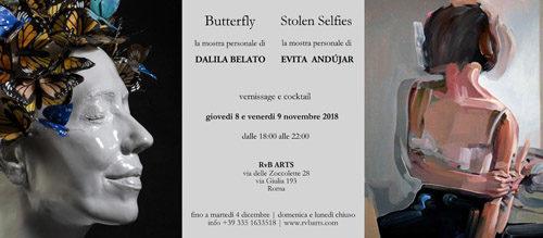Stolen Selfies, la mostra personale dell'artista spagnola Evita Andújar, e Butterfly