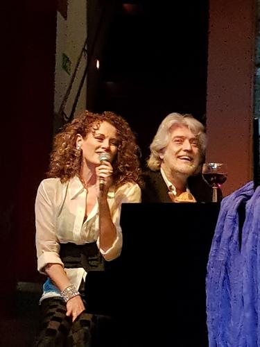 La cantante Anna Vinci ed il maestro Riccardo Biseo al Teatro degli Eroi di Roma
