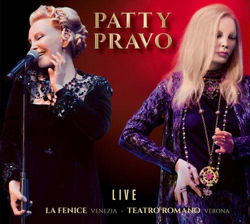 Patty Pravo Live, un doppio cd live per rivivere le emozioni dei concerti al Teatro La Fenice di Venezia e al Teatro Romano di Verona
