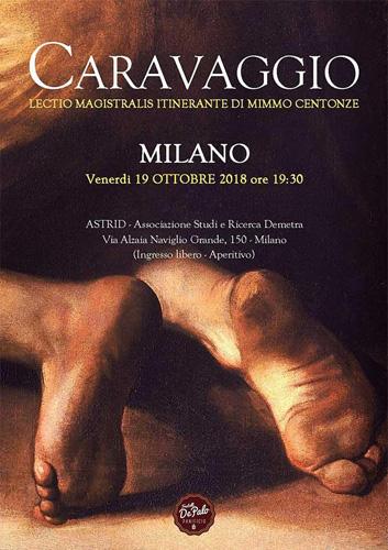 Lectio Magistralis di Mimmo Centonze su Caravaggio. A Milano
