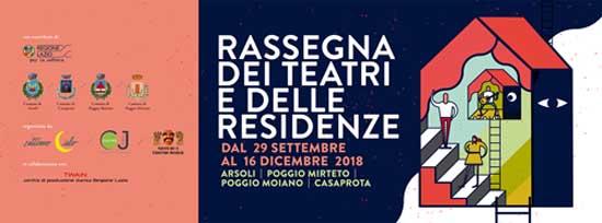 Rassegna dei Teatri e delle Residenze. Un trimestre di attività culturali nel Lazio