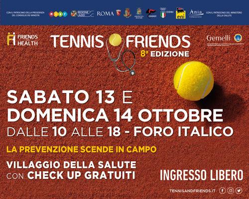 Tennis & Friends, al via la VIII edizione al Foro Italico a Roma