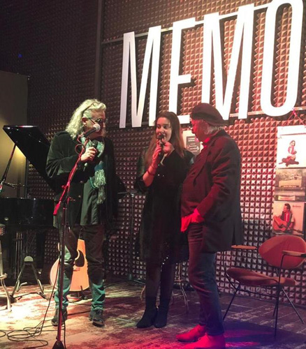 Valentina Carati ospite a Milano a serata evento in ricordo di Aznavour